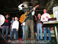 Criss sets the World Record in Clarksville, TN at the Warehouse